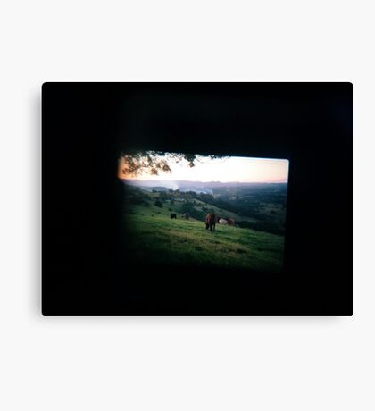 Through the viewfinder - Byron ranges Canvas Print