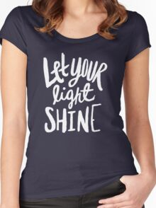 Let Your Light Shine x Mint Women's Fitted Scoop T-Shirt