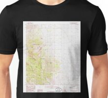 USGS TOPO Map Arizona AZ Cochise Stronghold 310933 1985 24000 Unisex T-Shirt