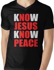 Know Jesus Know Peace Mens V-Neck T-Shirt