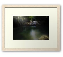 Small rock Small river Framed Print