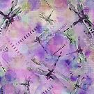 Purple Dragonflies by Betsy  Seeton