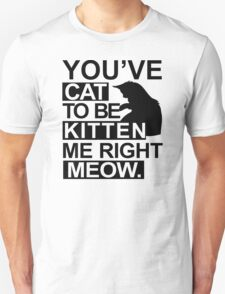 YOU'VE CAT TO BE KITTEN ME RIGHT MEOW Funny Animal Lovers Cats Feline Unisex T-Shirt