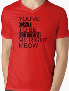 You've Cat To Be Kitten Me Right Meow Funny Mens V-Neck T-Shirt