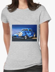 1932 Ford 'Boy Blue' Coupe I Womens Fitted T-Shirt
