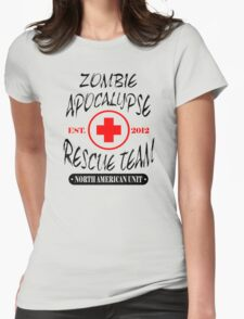 Zombie Apocalypse Rescue Team The Walking Zombies Funny Dead est Womens Fitted T-Shirt