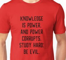 Knowledge is Power (red) Unisex T-Shirt