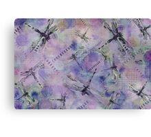Dragonflies Bluish Purple Canvas Print