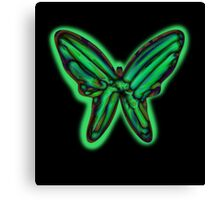 Green butterfy Canvas Print