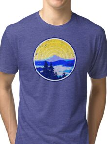 Vintage Golden Mountain Sunrise Tri-blend T-Shirt