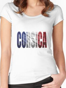 Corsica. Women's Fitted Scoop T-Shirt