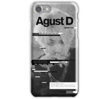 AGUST D Phone Case BTS V6 iPhone Case/Skin