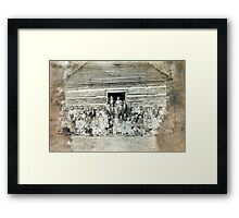 1901, PEABODY SCHOOL, DULL, DICKSON COUNTY TENNESSEE Framed Print