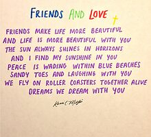 FRIENDS AND LOVE by Kevin C. Martin