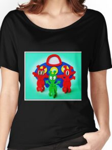 The Aliens Have Landed And they'd Like To Say Hello Women's Relaxed Fit T-Shirt