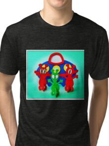 The Aliens Have Landed And they'd Like To Say Hello Tri-blend T-Shirt