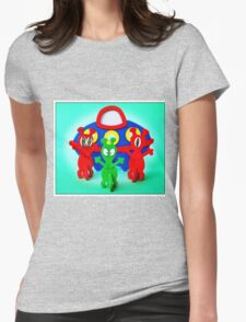 The Aliens Have Landed And they'd Like To Say Hello Womens Fitted T-Shirt