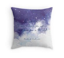 How far is the sky dear? Throw Pillow