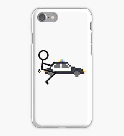Fuck Police cool funny police car fucking icon iPhone Case/Skin