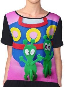 The Aliens Have Landed And they'd Like To Say Hello II Chiffon Top