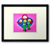 The Aliens Have Landed And they'd Like To Say Hello II Framed Print