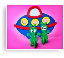 The Aliens Have Landed And they'd Like To Say Hello II Canvas Print