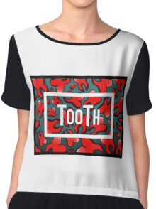 TooTh - Raining Red Tooth Chiffon Top