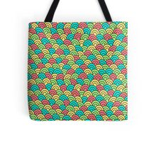 Simple doodle abstract pattern. Seamless colorful background. Tote Bag