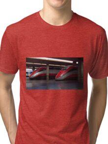 Trains, Florence Central Station Tri-blend T-Shirt