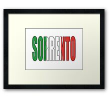 Sorrento. Framed Print