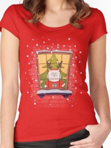 Meowy Christmas <3 Women's Fitted Scoop T-Shirt