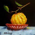 Bush Lemon In Black by Margaret Stockdale