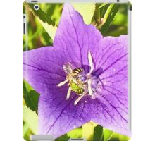beautiful,digital photo of Gentian blue,wild flower,Wasp,insect iPad Case/Skin