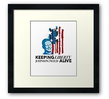 Gary Johnson Weld   Keeping Liberty Alive Framed Print