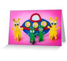 The Aliens Have Landed And they'd Like To Say Hello III Greeting Card
