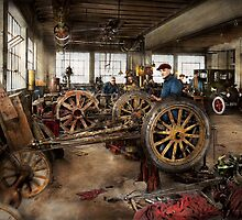 Car - Garage - Blue collar work 1923 by Mike  Savad