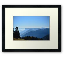 Blue Mountain Haze Framed Print