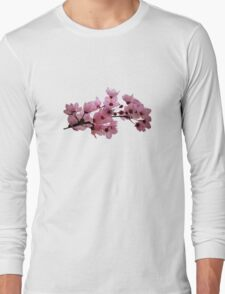 Cherry Blossoms on a Branch Long Sleeve T-Shirt