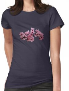 Cherry Blossoms on a Branch Womens Fitted T-Shirt