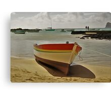 Rowing Boat in Watercolour Canvas Print