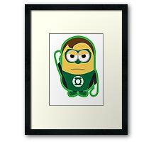 Green Lantern Minion Framed Print