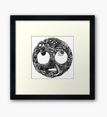 Eyerolls Framed Print