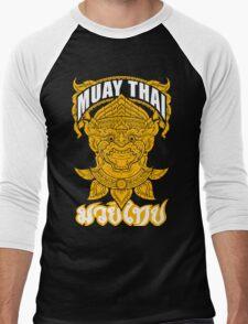 Muay Thai Hanuman Holy Fighter Martial Art Spirit Men's Baseball ¾ T-Shirt