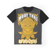 Muay Thai Hanuman Holy Fighter Martial Art Spirit Graphic T-Shirt