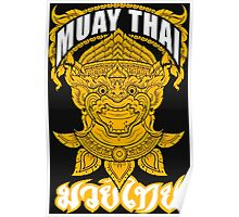 Muay Thai Hanuman Holy Fighter Martial Art Spirit Poster