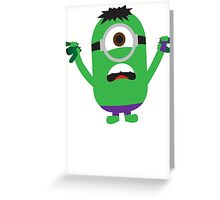 Hulk Minion Greeting Card