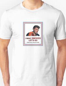 I Want Smokes (white background) Unisex T-Shirt
