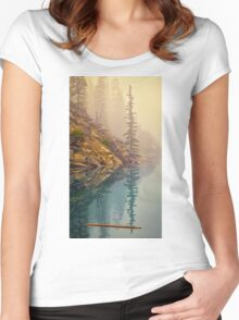Tree In The Fog Women's Fitted Scoop T-Shirt