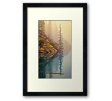 Tree In The Fog Framed Print