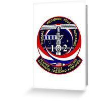 STS-102 Space Shuttle Discovery Mission Logo Greeting Card